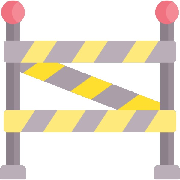 A Barrier for not being allowed icon